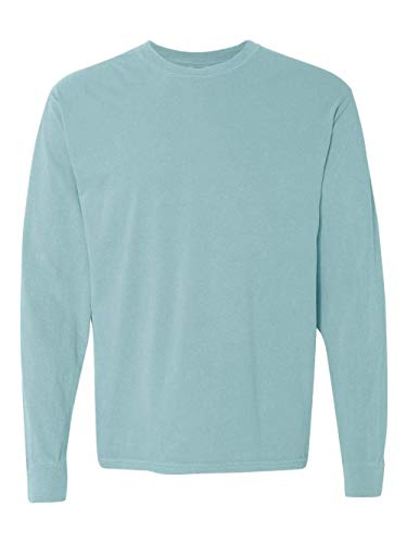 Comfort Colors Men's Adult Long Sleeve Tee, Style 6014, Chalky Mint, 3X-Large