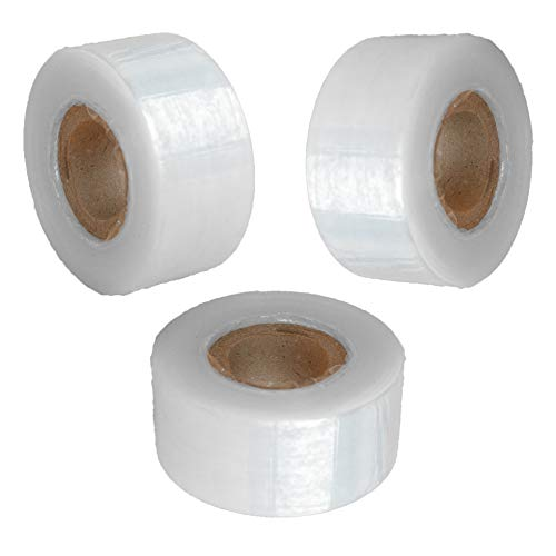 Suplklz Self-Adhesive Garden Grafting Tape Plant Repair Tapes Moisture Barrier Stretchable Clear Film for Fruit, Floral, Tree and Plants Ploy Budding Tape Graft Tool Nursery Tape (Clear-3 Pack)