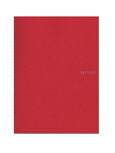 Fabriano EcoQua Notebooks Spiral Blank Raspberry 8.25 x 11.7 in.