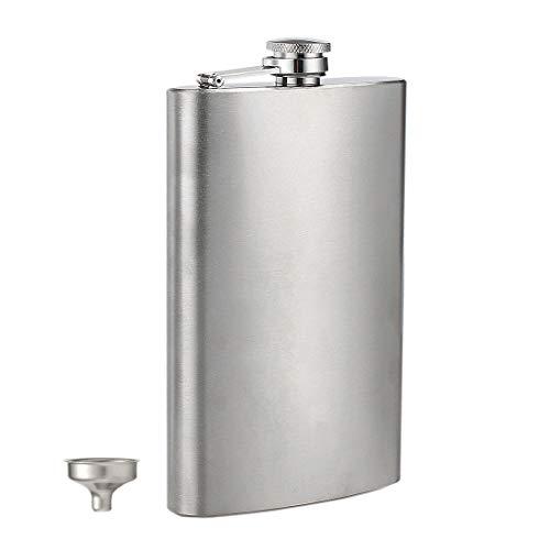 GENNISSY 12oz Whiskey Flasks for Liquor for Men Flask Gift Sets for Groomsmen, 304 18/8 Stainless Steel Flask with Funnel