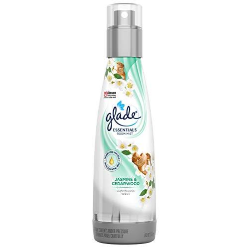 Glade Air Freshener, Jasmine & Cedarwood Essentials Room Mist, Room Spray, 6.2 oz