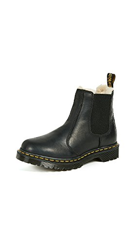 Dr. Martens Women's 2976 Leonore Fashion Boot, Black Burnished Wyoming, 7