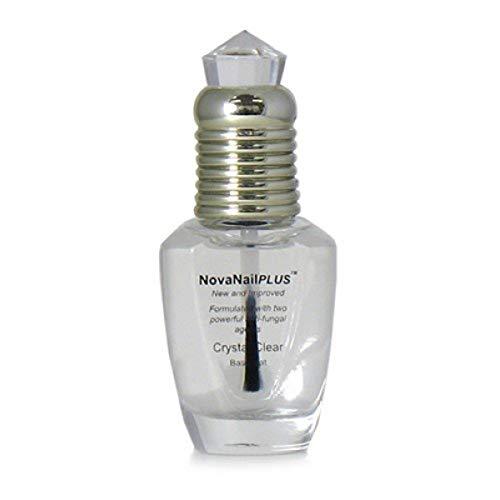 NovaNailPLUS Anti Fungal Nail Polish Clear Base Coat - Medicated Treatments for Toenails