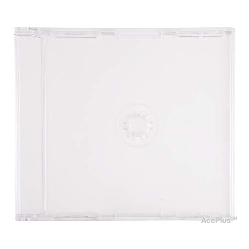 AcePlus 10-Pack Slimline Import CD-5 Jewel Cases - Holds J Card Inserts, Used for Import CD Singles
