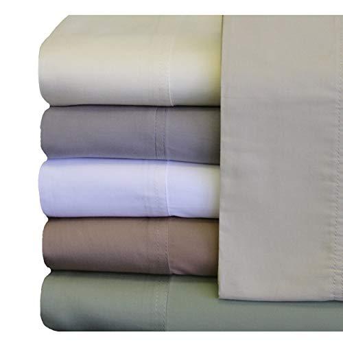 Royal Bedding Bamboo Sheets, Silky Soft and Naturally Pure Fabric, 100% Woven Bamboo Viscose Sheet Set, 4PC Set, King Size, Ivory