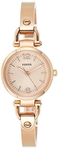 Fossil Women's Georgia Mini Quartz Stainless Steel Dress Watch, Color: Rose Gold (Model: ES3268)