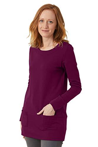 Fair Indigo Fair Trade Organic Sweatshirt Tunic (XS, Boysenberry)