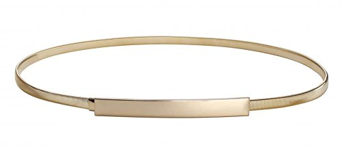 Women Skinny Belt Chain Elastic Punk Chain Wedding Belt Gold Waistband Gold Medium,Gold,Medium(27.6'- 31.5')