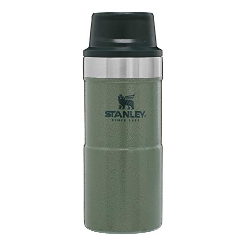 Stanley Classic Trigger Action Travel Mug 16 oz –Leak Proof + Packable Hot & Cold Thermos – Double Wall Vacuum Insulated Tumbler for Coffee, Tea & Drinks – BPA Free Stainless-Steel Travel Cup