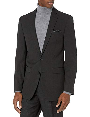 Van Heusen Men's Slim Fit Flex Stretch Suit Separate Blazer (Blazer and Pant), Black Pindot, 40 Short