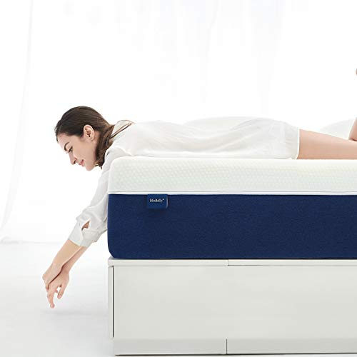 Twin Mattress, Molblly 8 inch Gel Memory Foam Mattress with CertiPUR-US Bed Mattress in a Box for Sleep Cooler & Pressure Relief, Twin Size