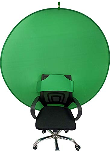 BOYXCO Gen2 Collapsible Portable Webcam Background Chroma Key Greenfor Video Chats, Zoom, Skype, Backdrop Video Calls, Chromakey (58in×58in)