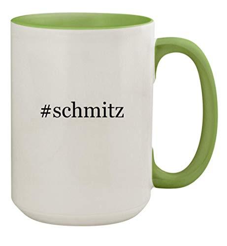 #schmitz - 15oz Ceramic Colored Handle and Inside Coffee Mug Cup, Light Green