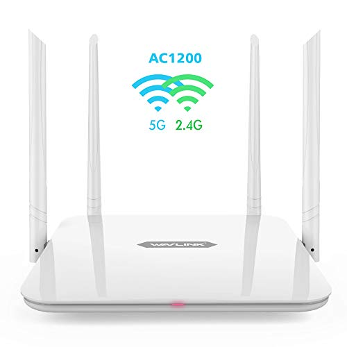 WAVLINK AC1200 Smart WiFi Router Dual Band Wireless Internet Router for Home,4 High-Performance Antennas for Strong Signal,Gigabit WAN Ports Wi-Fi Router,Supports Guest Wi-Fi,WISP and AP Mode