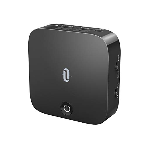 TaoTronics Bluetooth 5.0 Transmitter and Receiver, Digital Optical TOSLINK and 3.5mm Wireless Audio Adapter for TV/Home Stereo System - Low Latency