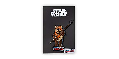 Star Wars Ewok Wicket Exclusive Character Pin | Official Star Wars Collectible Enamel Pin | Measures 2.5 Inches Tall Brown