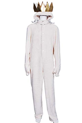 Where The Wild Things are Wolf Max Records Cosplay Costume Jumpsuit Crown XL