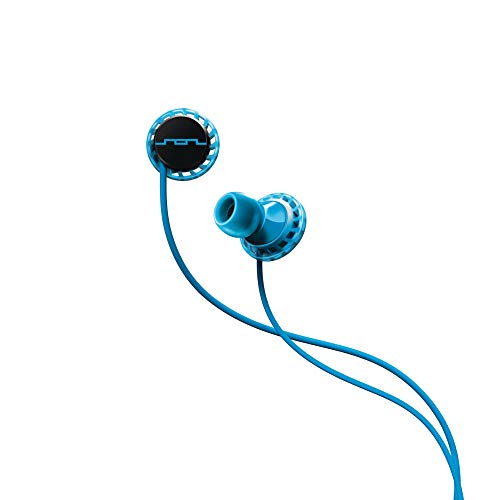 SOL REPUBLIC Relays Sport Wired 1-Button In-Ear Headphones, Android Compatible, Secure Fit For Workouts, Won't Fall Out, In-Ear Noise Isolation, 4 Ear Tip Sizes, Great For Calls, 1152-36 Blue