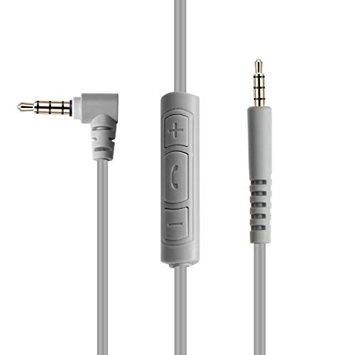 Amazon Basics Bose Quiet Comfort Replacement Inline Mic Remote Headphone Cable for Android Devices - Gray