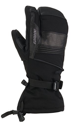 Gordini Men's Men's Gore-tex Storm Trooper Three Finger Waterproof Mittens, Black, Large