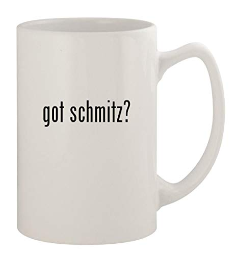 got schmitz? - 14oz Ceramic White Statesman Coffee Mug, White