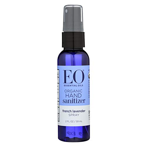 EO Organic Lavender Hand Sanitizer Spray, 2 Fl Oz (Pack of 6)