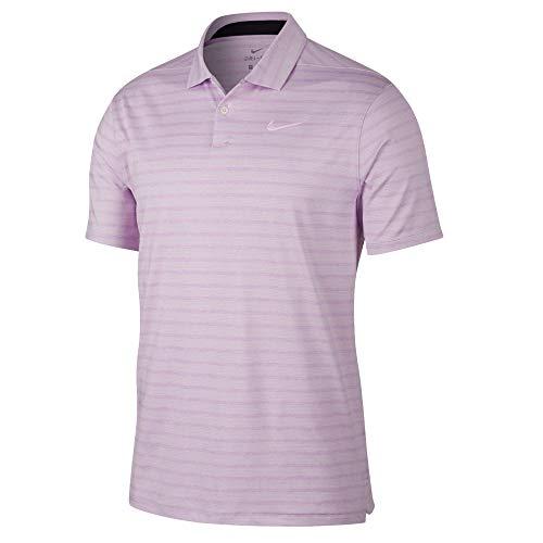 Nike Dry Fit Vapor Stripe Golf Polo 2019 Lilac Mist Large
