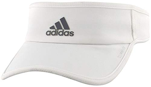 adidas Women's Superlite Sports Performance Adjustable Visor, White/Light Onix, One Size
