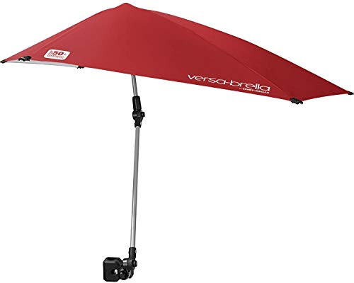 NewElegant Chair Umbrella Sun Umbrella Boat Umbrella Beach Chair Umbrella Adjustable Umbrella with Universal Clamp Stroller Umbrella Chair Umbrella with Clamp Rugged Cover and Durable Connector-Red