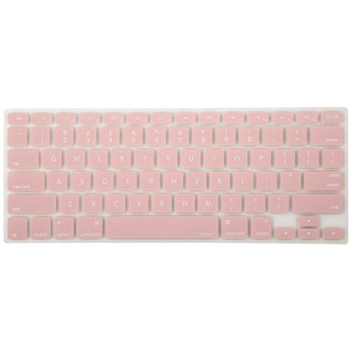 MOSISO Silicone Keyboard Cover Compatible with MacBook Pro 13/15 Inch (with/Without Retina Display, 2015 or Older Version),Older MacBook Air 13 Inch (A1466 / A1369, Release 2010-2017), Rose Quartz
