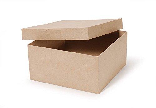 Darice Paper Mache Box - Square - 10 x 10 x 5 in