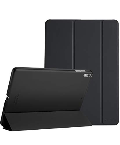 ProCase iPad Air (3rd Gen) 10.5' 2019 / iPad Pro 10.5' 2017 Case, Ultra Slim Lightweight Stand Smart Case Shell with Translucent Frosted Back Cover for Apple iPad Air (3rd Gen) 10.5' 2019 –Black