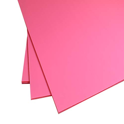 Source One Premium A Frame Replacement Sheets Coroplast Plastic Sign Boards White, Black, Yellow & Blue Available in Multiple Sizes (12 x 24-2 Pack, Pink)