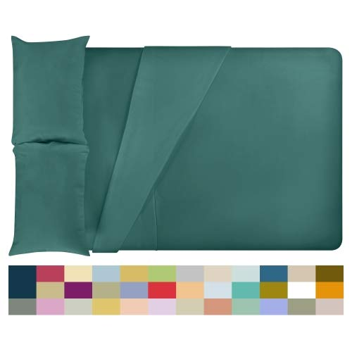 LuxClub Bamboo Sheet Set - Bamboo - Eco Friendly, Wrinkle Free, Hypoallergenic, Antibacterial, Moisture Wicking, Fade Resistant, Silky, Stronger & Softer Than Cotton - Teal - Full