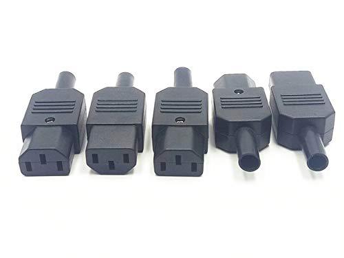 5pcs IEC C13 Female Socket Power Adapter Rewirable Connector AC 250V 10A