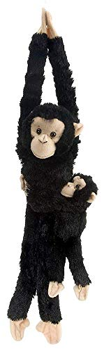Wild Republic Chimpanzee w/baby plush, Monkey Stuffed Animal, Plush Toy, Gifts for Kids, Hanging 20 Inches