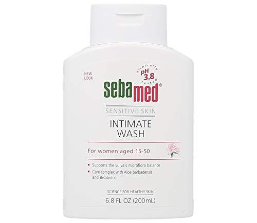 SEBAMED Feminine Intimate Wash pH 3.8 for Microflora Balance with Aloe Vera Mild Organic Based Daily Vaginal Wash Feminine Hygiene 6.8 Fluid Ounces (200 Milliliters), Clear (3247350.0)
