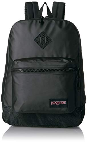 JanSport Super FX Backpack - Trendy School Pack With A Unique Textured Surface   Black Stone Iridescent