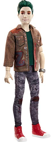 """Zombies Disney's 2, Zed Necrodopolis Doll (~12-inch) Wearing Grunge Outfit and Accessories, 11 Bendable """"Joints,"""" Great Gift for Ages 5+"""