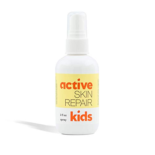 Active Skin Repair Kids First Aid Spray - Non-Toxic & Natural Kids Antiseptic Spray for Minor Cuts, Wounds, Scrapes, Rashes, Sunburns, and Other Skin Irritations (3oz Spray)