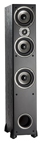 Polk Audio Monitor 60 Series II Floorstanding Speaker (Black, Single) - Bestseller for Home Audio | Affordable Price | 1' Tweeter, (3) 5.25' Woofers
