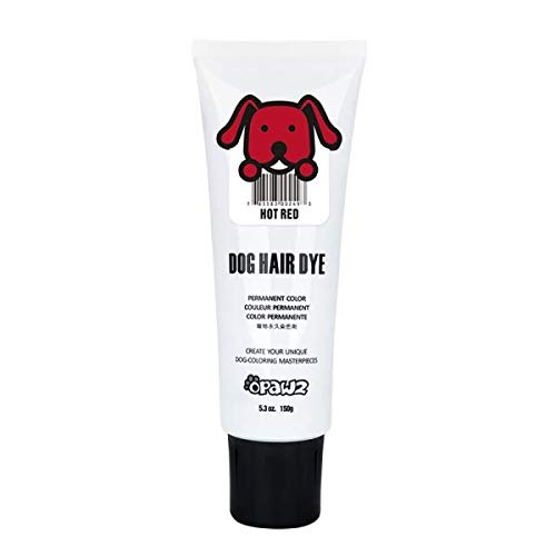 Opawz Dog Hair DYE Gel (RED) - New Bright, Fun Shade, Semi-Permanent, Completely Non-Toxic and Safe