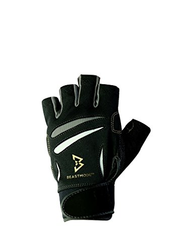 BIONIC The Official Glove of Marshawn Lynch Gloves Beast Mode Women's Full Finger Fitness/Lifting Gloves w/Natural Fit Technology, Black (Pair)