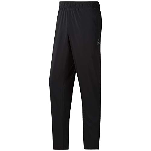 Reebok Men's Elements Woven Open Hem Workout and Gym Pants