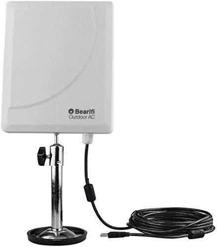 Bearifi BearExtender Outdoor AC 802.11ac Dual Band 2.4/5 GHz High Power USB Wi-Fi Extender Antenna PCs