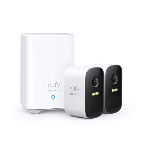 eufy Security, eufyCam 2C 2-Cam Kit, Security Camera Outdoor, Wireless Home Security System with 180-Day Battery Life, HomeKit Compatibility, 1080p HD, IP67, Night Vision, No Monthly Fee
