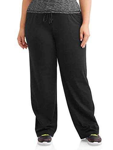 Athletic Works Women's Plus-Size Dri-More Core Relaxed Fit Workout Pant, Black, 3X