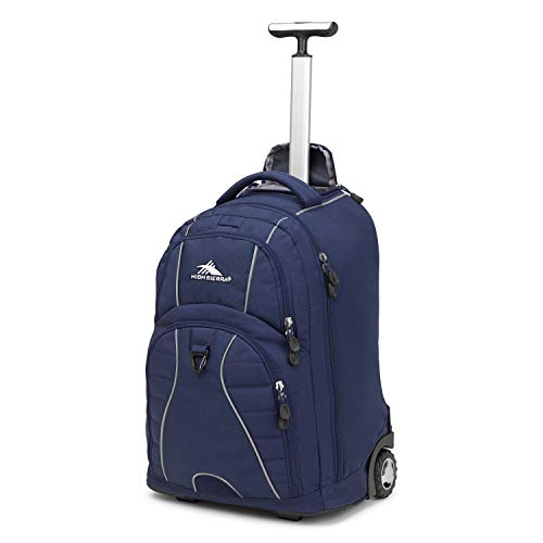 High Sierra Freewheel Wheeled Laptop Backpack, True Navy, 20.5 x 13.5 x 8-Inch