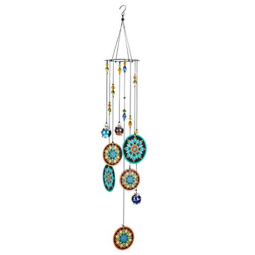 Mandala Wind Chimes Outdoor with Melody Deep Tone Hanging Metal Memorial Sympathy Windchimes Gifts for Garden Yard Decor