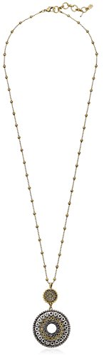 Lucky Brand Two Tone Tribal Pendant Necklace, 30' + 1.5' Extender